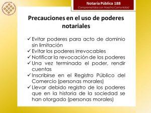 PRECAUCIONES CON EL USO DEL PODER
